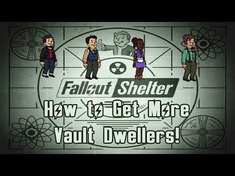 Get More Vault Dwellers | Fallout Shelter Tutorial
