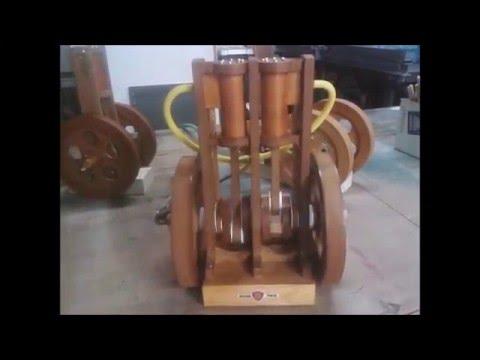 Model B Wooden Twin Cylinder Steam   Air Engine