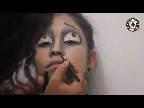 How to make easy halloween costume makeup: Corpse Bride