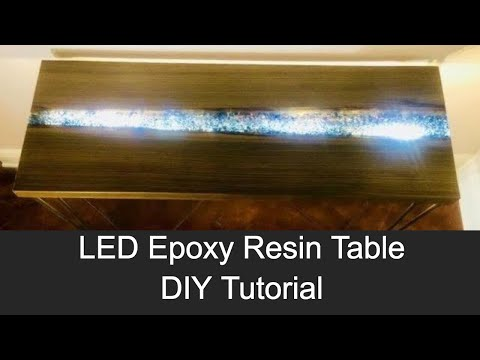 How to Make an LED River Table - Epoxy Resin