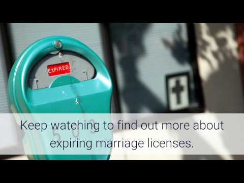 Does My Marriage License Expire?!