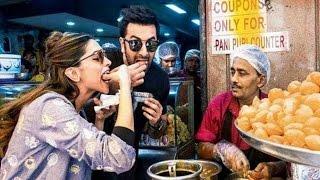 Deepika Padukone And Ranbir Kapoor Eats Pani Puri