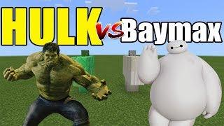 Hulk vs Baymax | Minecraft PE