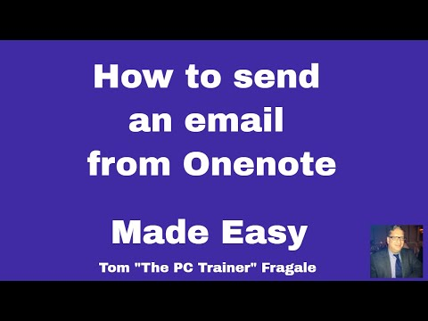 Creating an email from a OneNote Page - How to create an email from OneNote tutorial