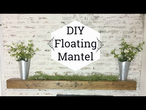 DIY FLOATING MANTEL OR SHELF // HOW TO MAKE RUSTIC WOOD MANTEL