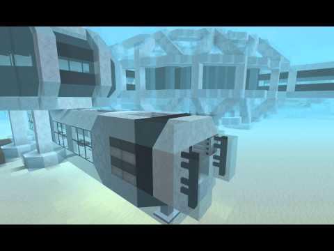 Minecraft underwater base airlock