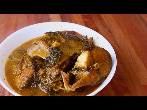 HOW TO MAKE NIGERIAN OGBONO SOUP WITH BITTERLEAF