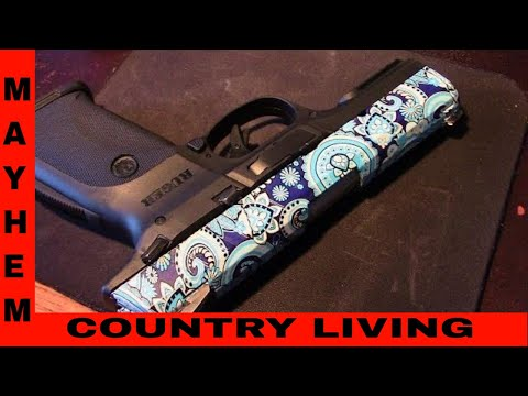 Wifes new hydro dipped Ruger 9E
