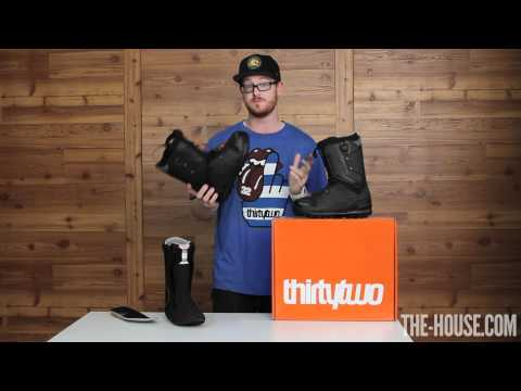 32 - Thirty Two Lashed Fasttrack Snowboard Boots Product Review 2012