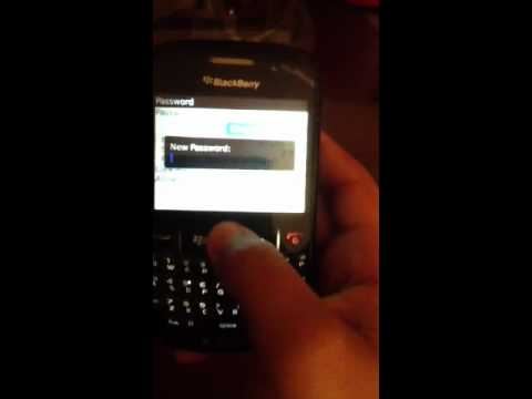 How to change your password for blackberry