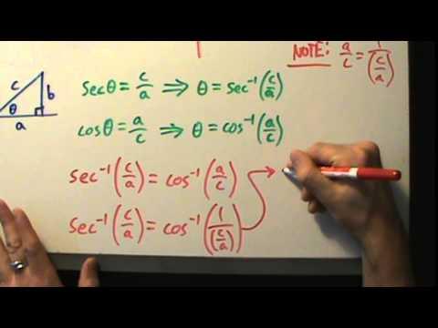 Trigonometry - Inverse Trig - Evaluating Inverse Secant with a Calculator