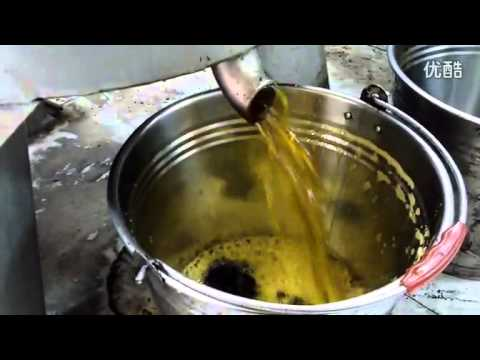 Cooking oil centrifugal oil filter