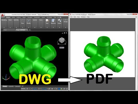 How to Convert DWG to PDF in AUTOCAD 2017 & 2018