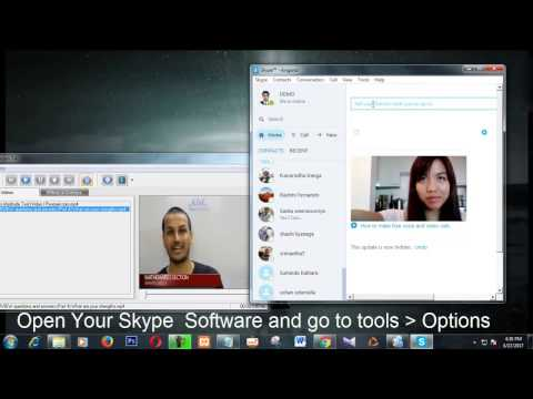 How to use fake web cam with skype to show pre recorded video as live