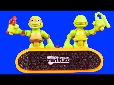 Shredder And Krang Make Prototype Teenage Mutant Ninja Turtles TMNT Mikey To Take Pizza Launcher