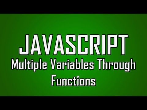 Learn JavaScript - #14 - Passing Multiple Values Through Functions [1080p]