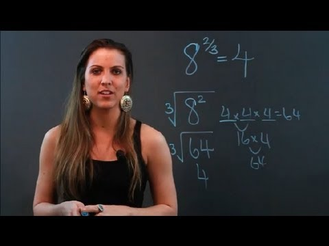 How to Raise a Number to a Power That's a Fraction : Algebra Help