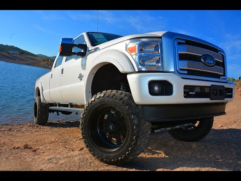 2015 Ford F-350 Platinum diesel crew cab custom lifted 4x4 truck