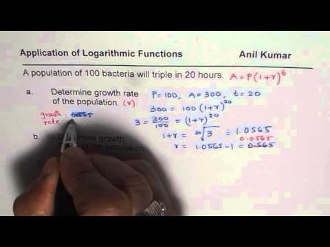 Triple Time Growth Factor and Double Time of Exponential Growth