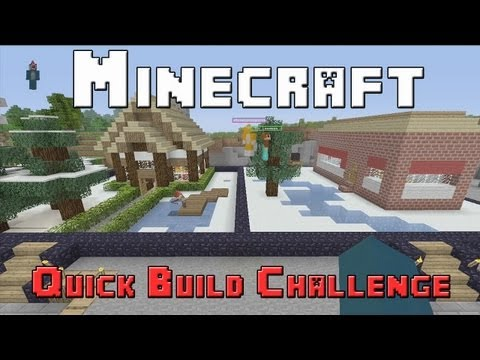 Minecraft Xbox - Quick Build Challenge - Quarter Finals - Winter Wonderland