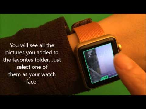 How To Custom Apple Watch Face With Your Own Pictures Apple Watch Spo