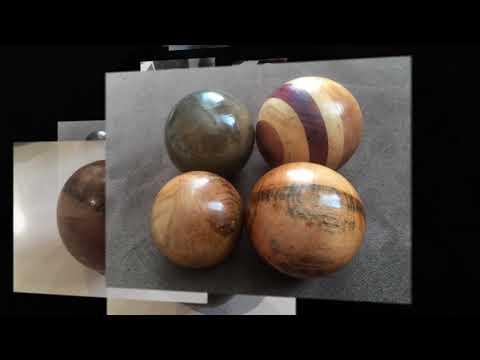 Woodturned Bowls, Balls etc