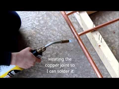 Making a copper garden trellis