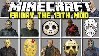 Minecraft FRIDAY THE 13TH MOD | JASON VOORHEES! | Modded Mini-Game