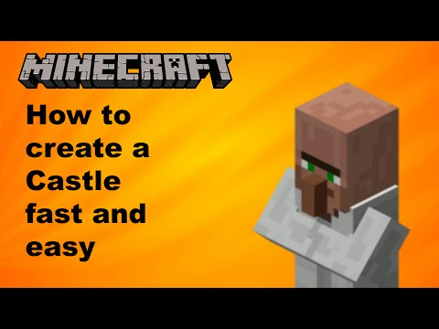 Minecraft- How to make a Gigantic Castle fast & easy