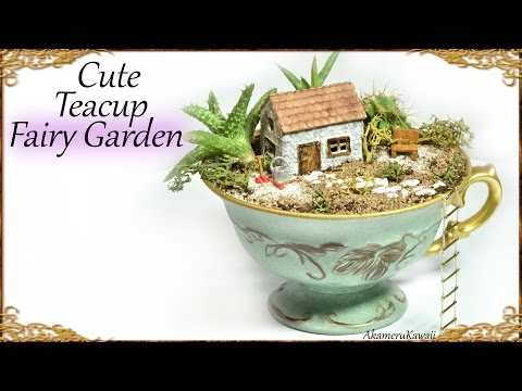 Cute DIY Tea Cup Fairy Garden - Miniature Craft Tutorial