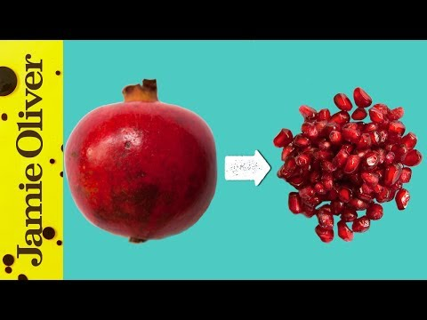 How To De-Seed A Pomegranate | Jamie's 1 Minute Tips