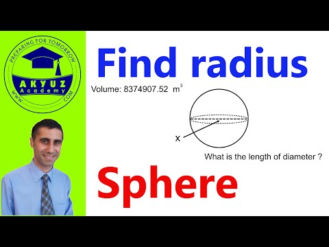How to find radius when volume or surface area is given in a Sphere
