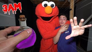 (IT WORKS!?) USING GIANT POTION ON ELMO DOLL AT 3 AM!! *HE COMES TO LIFE*