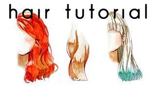 Hair Watercolor Coloring Tutorial