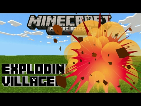 Minecraft PE | How To Make Exploding Mobs! | Command Block creation