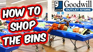 How To Shop The Bins | Tips for Shopping at The Goodwill Outlet | Thrift for Profit | Reselling