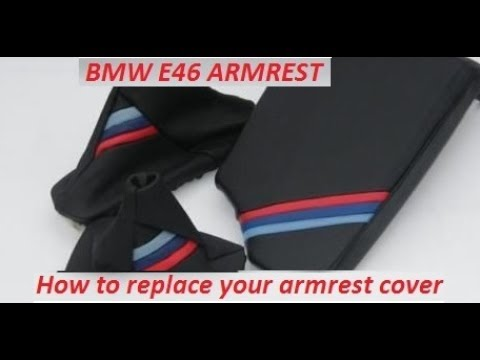 How to replace the BMW E46 armrest leather cover.