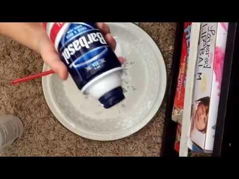 How to make slime with, glue, shaving cream, and eye drops!