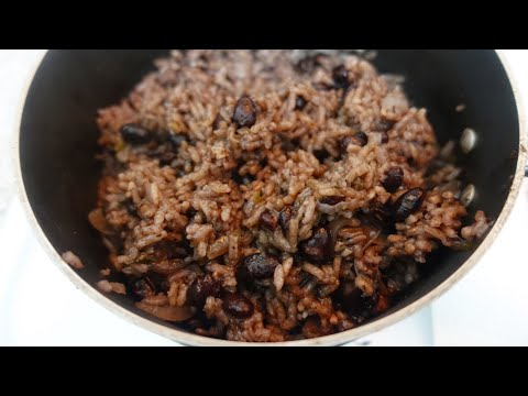 Mexican Inspired Black Beans And Rice from Scratch