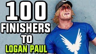 WWE 2K18 - 100 Finishers To Logan Paul!