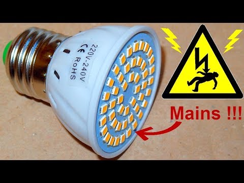 Dangerous Chinese LED Lamp - mains exposed! (test, teardown, schematic)