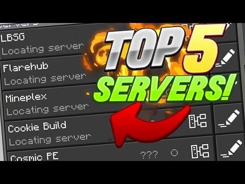 MINECRAFT PE 1.0 - TOP 5 MULTIPLAYER SERVERS! - Minecraft PE (Pocket Edition)