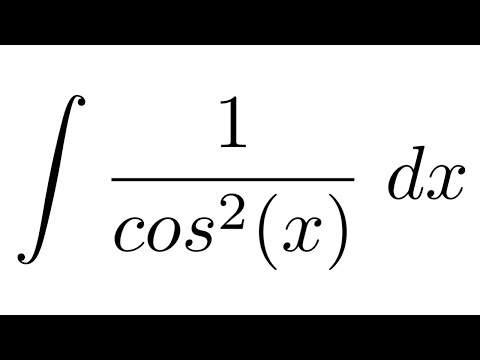 Integral of 1/cos^2(x) (substitution)