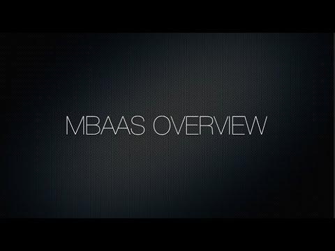 Video 1. Introduction - mBaaS Overview