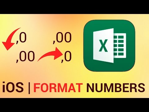 How to Format Numbers in Excel for iPad