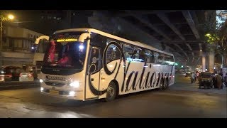 15Mins Non Stop Fun Of 28 Colourful Volvo & Scania Buses In Mumbai !!!!