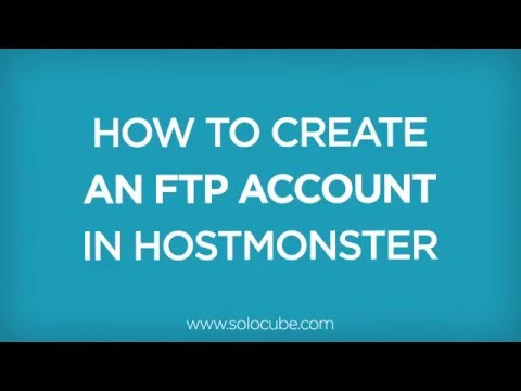 How to Create an FTP account in Hostmonster