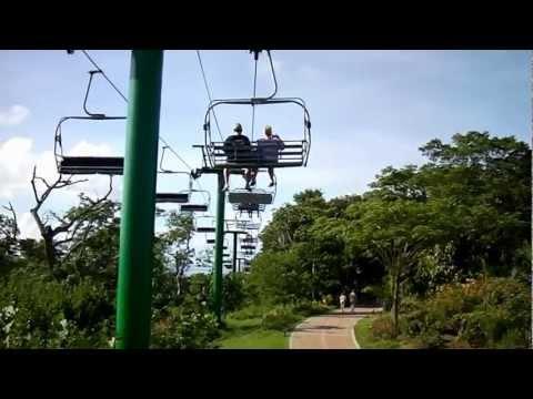 Magical Flying Beach Chair in Mahogany Bay, Roatan, Honduras by jonfromqueens
