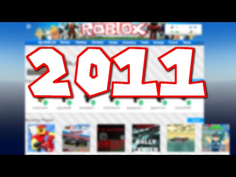 How To Get The 2011 ROBLOX Website Theme In 2018