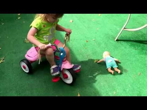 Trying to teach my daughter how to pedal lol. Good times